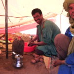 Berber beim Kochen