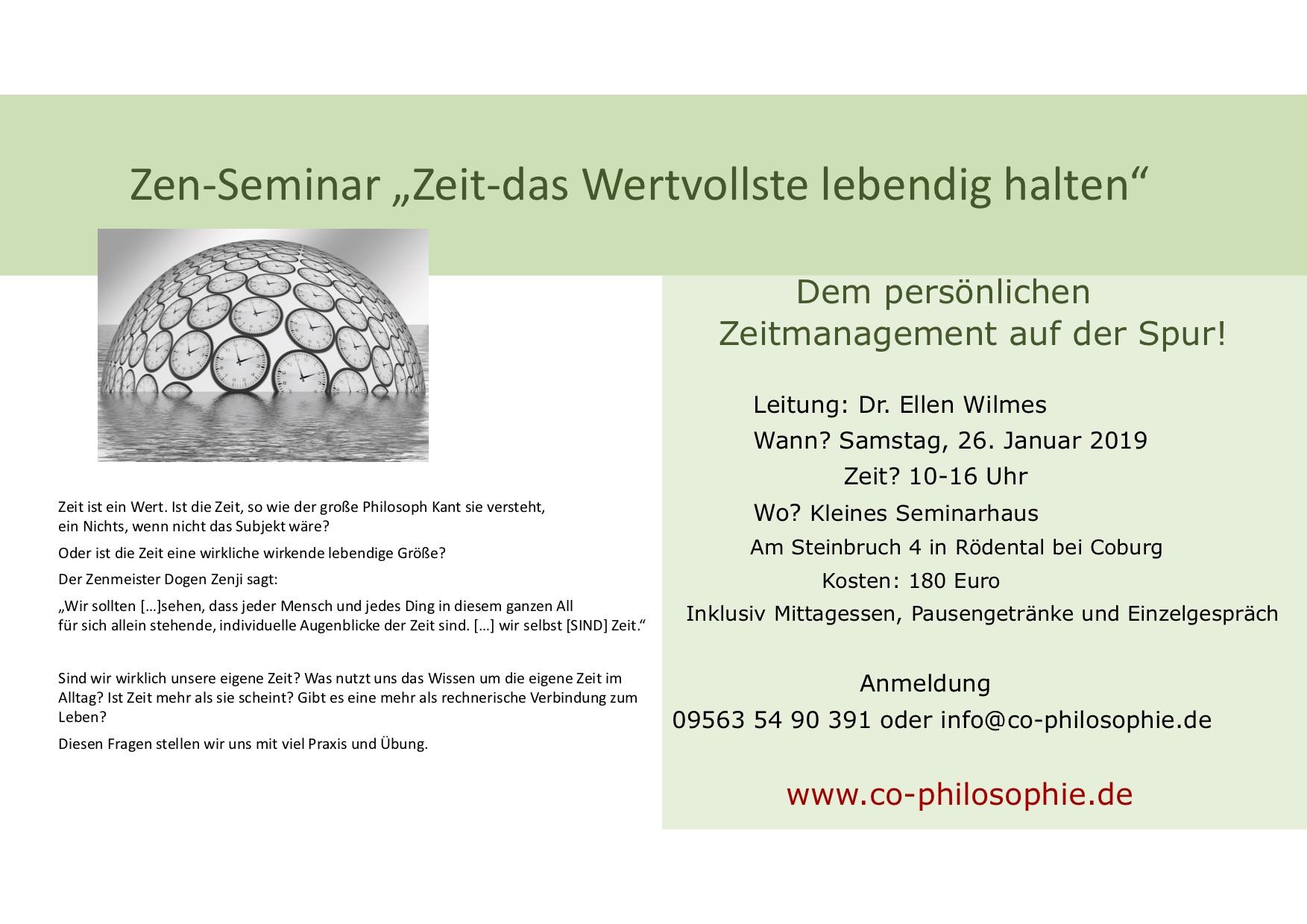 Zen-Seminar Zeit